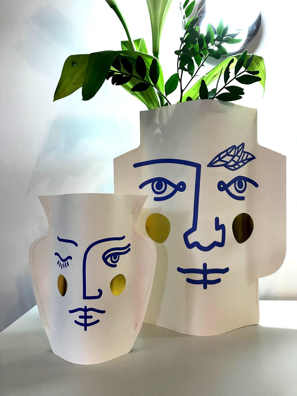 Vase papier Janus Octaevo