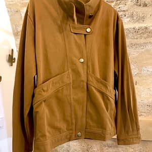 Veste trench moutarde