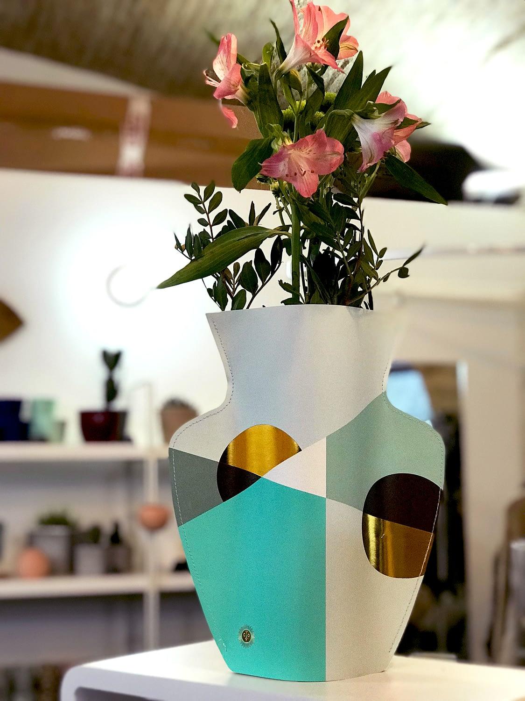 Vase papier Octaevo Siena Mint