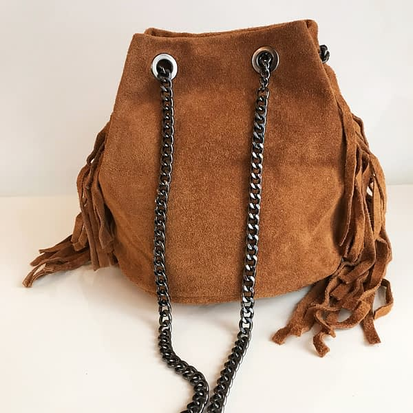 sac cuir camel